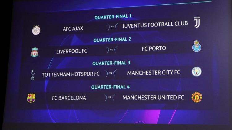 Así quedaron los cruces de cuartos de final de la Champions League. (Reuters)