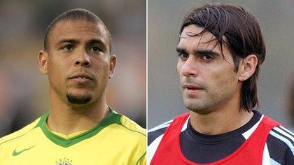 Ronaldo y Ayala tuvieron incontables batallas personales en selección, el fútbol italiano y español