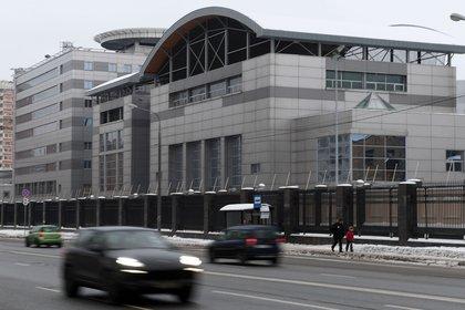 Sede central de la agencia de inteligencia militar rusa conocida como GRU. Foto: NATALIA KOLESNIKOVA/AFP