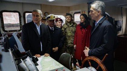 Mauricio Macri cierra la campaña sanitaria organizada por el EMCO(Télam)