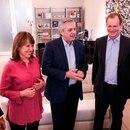 Alberto Fernández almorzó con el gobernador Gustavo Bordet y se tomó fotos con los precandidatos entrerrianos