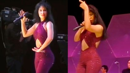 El icónico vestuario de Selena se convirtió en inspiración para varias (Foto: Youtube Selena Quintanilla)