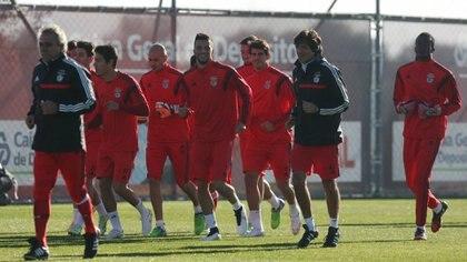 El Benfica de Portugal, entrena con ayuda tecnológica