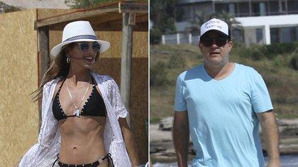 Agustina Casanova con sombrero estilo cowboy y su esposo Lautaro Mauro con sombrero cap con visera
