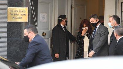 Cristina Kirchner en el juzgado de Villena (Foto: Maximiliano Luna)