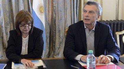 Patricia Bulrich y Mauricio Macri