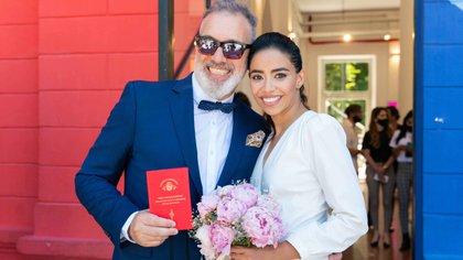Pablo Duggan y Karen Martínez se casaron el pasado 14 de diciembre