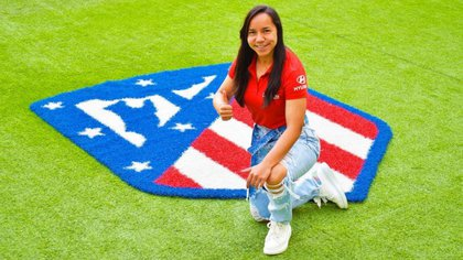 Charlene Correa, on display as the new Athletic striker (Photo: CharlynCorral)