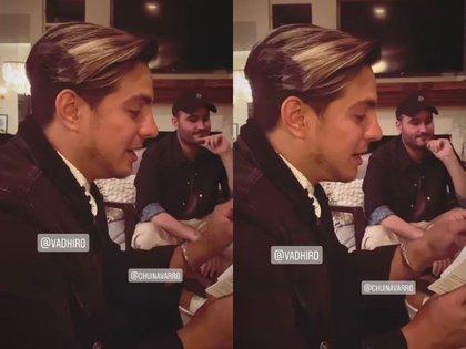 En las historias de Ailsinn se dejó ver el cantante Chuy Navarro, vocalista de Reik. (Foto: @aislinnderbez/ Instagram)