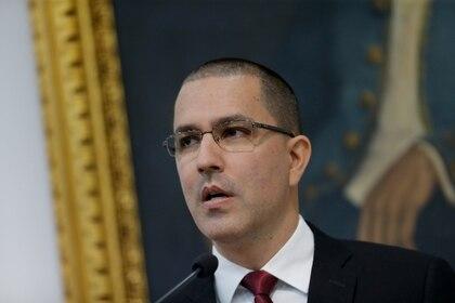 Jorge Arreaza canciller de la dictadura de Nicolás Maduro