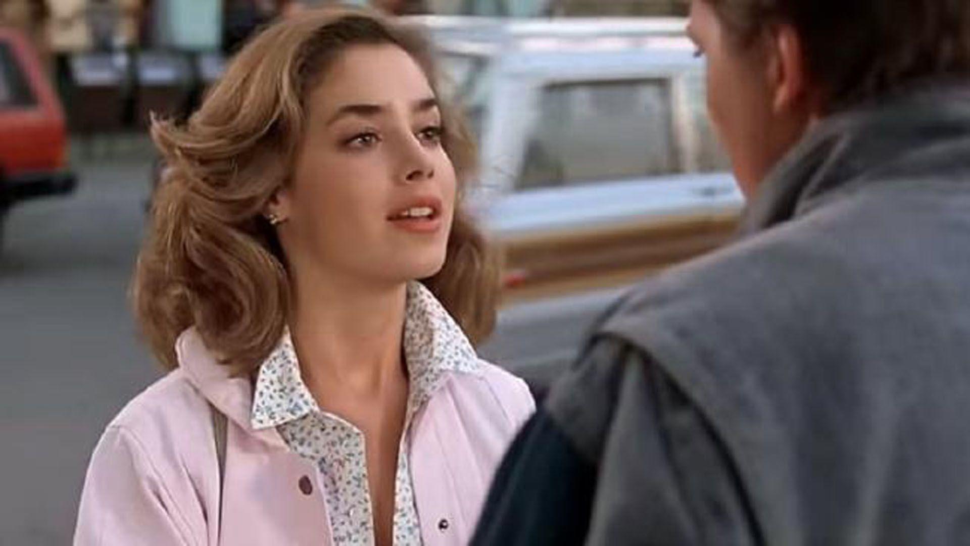 Claudia Wells, en una escena de la primera película de 'Volver al futuro'