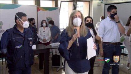 Gobernadora del Valle del Cauca, Clara Luz Roldán, positivo para coronavirus y en aislamiento.
