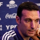 Soccer Football - International Friendly - Argentina Press Conference - Hilton Tel Aviv, Tel Aviv, Israel - November 17, 2019 Argentina coach Lionel Scaloni during the press conference REUTERS/Amir Cohen
