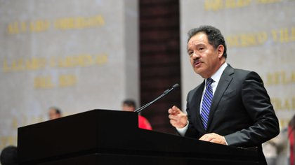 """El coordinador de Morena dijo no poder opinar sobre el caso porque """"son cosas personales"""" (Foto: Cortesía Cámara de Diputados)"""