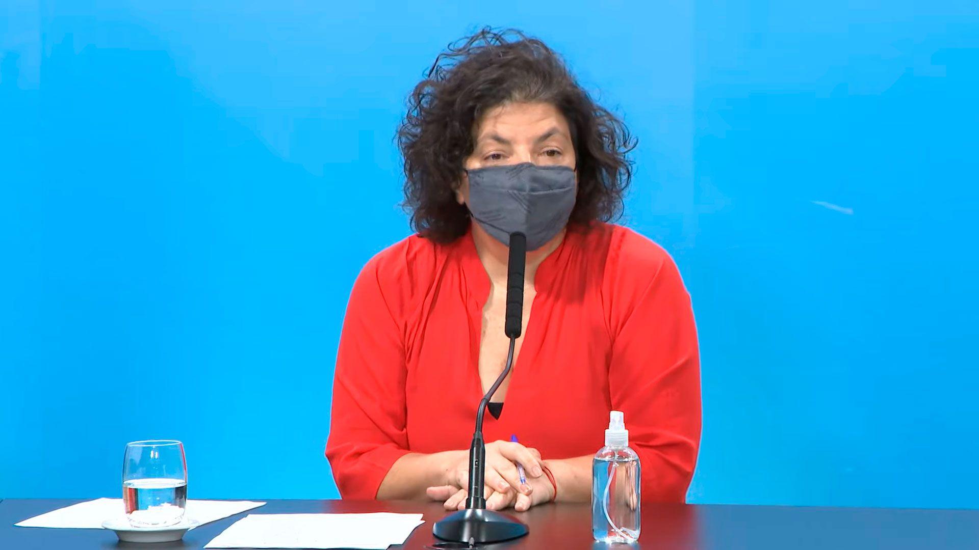 Coronavirus COVID 19 - Conferencia de prensa de la ministra de Salud, Carla Vizzotti