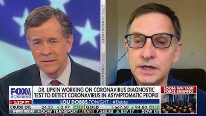 """El experto, que habló de su propio caso en """"Lou Dobbs Tonight"""", trabajó también en el combate contra los virus del SARS y del Nilo Occidental."""