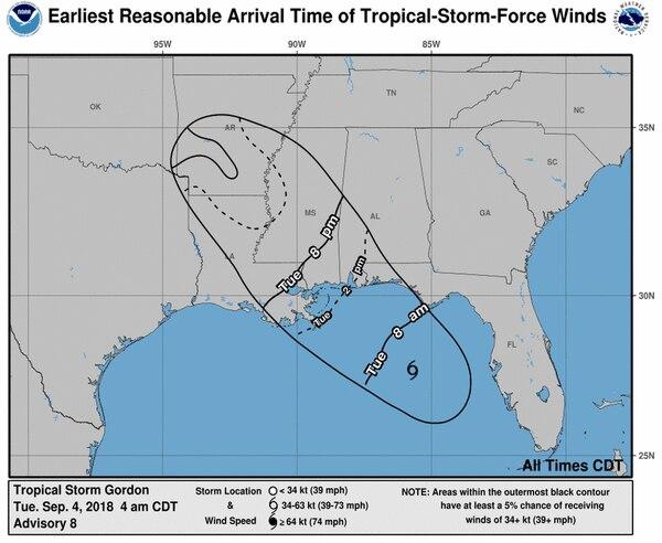 Tormenta tropical Gordon