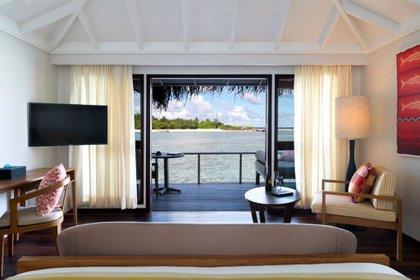 HANDOUT - El hotel Anantara Veli de las Maldivas ofrece un bungalow para dos personas con estadía por un año por 30.000 dólares. Foto: ----/Anantara Veli Maldives Resort/dpa - ATENCIÓN: Sólo para uso editorial en relación con la cobertura sobre (la emisión/la película/la subasta/la exposición/el libro) y mencionando el crédito completo