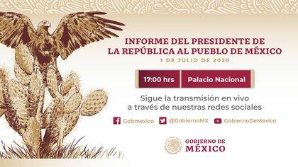 El presidente Andrés Manuel López Obrador dará un informe este miércoles por la tarde (Foto: Twitter@A_Encinas_R)