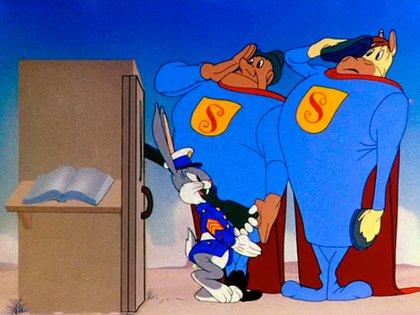 Bugs Bunny con el uniforme de la Armada norteamericana
