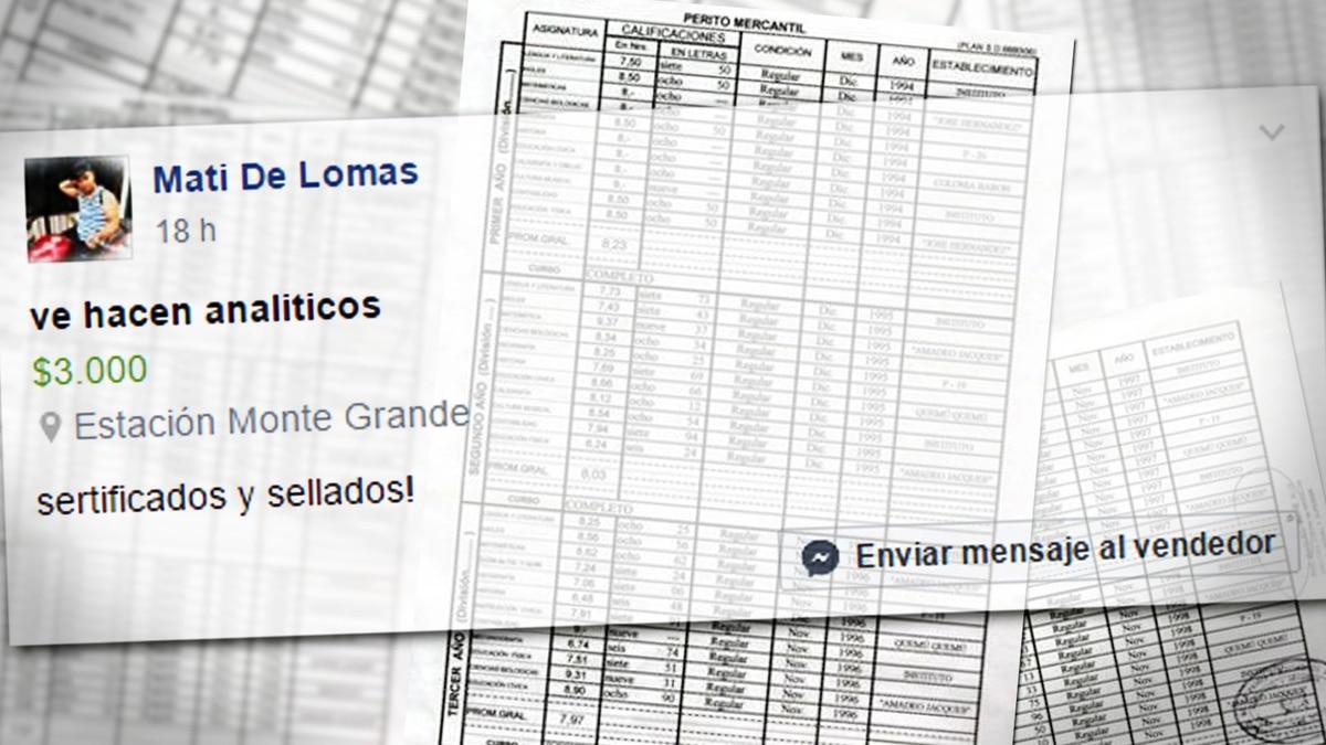 Titulo Secundario Se Vende Ofrecen Por Facebook Analiticos
