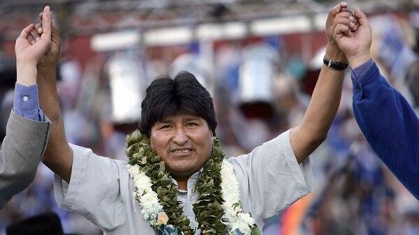 Evo Morales, durante la campaña electoral de 2005