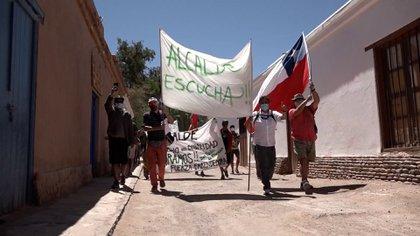 La protesta en las calles de San Pedro