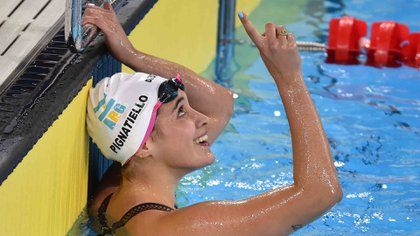 Pignatiello ganó tres medallas de oro en los últimos Juegos Panamericanos de Lima 2019 (AFP)