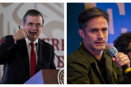 El actor Gael García y el canciller de México, Marcelo Ebrard, protagonizaron un cómico intercambio de tuits que generó varias reacciones en la red social (Foto: Cuartoscuro)