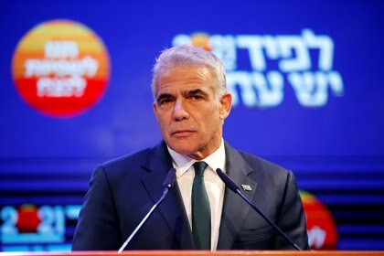 File photo: Air Lapid in Tel Aviv on March 24, 2021.  REUTERS / Amir Cohen