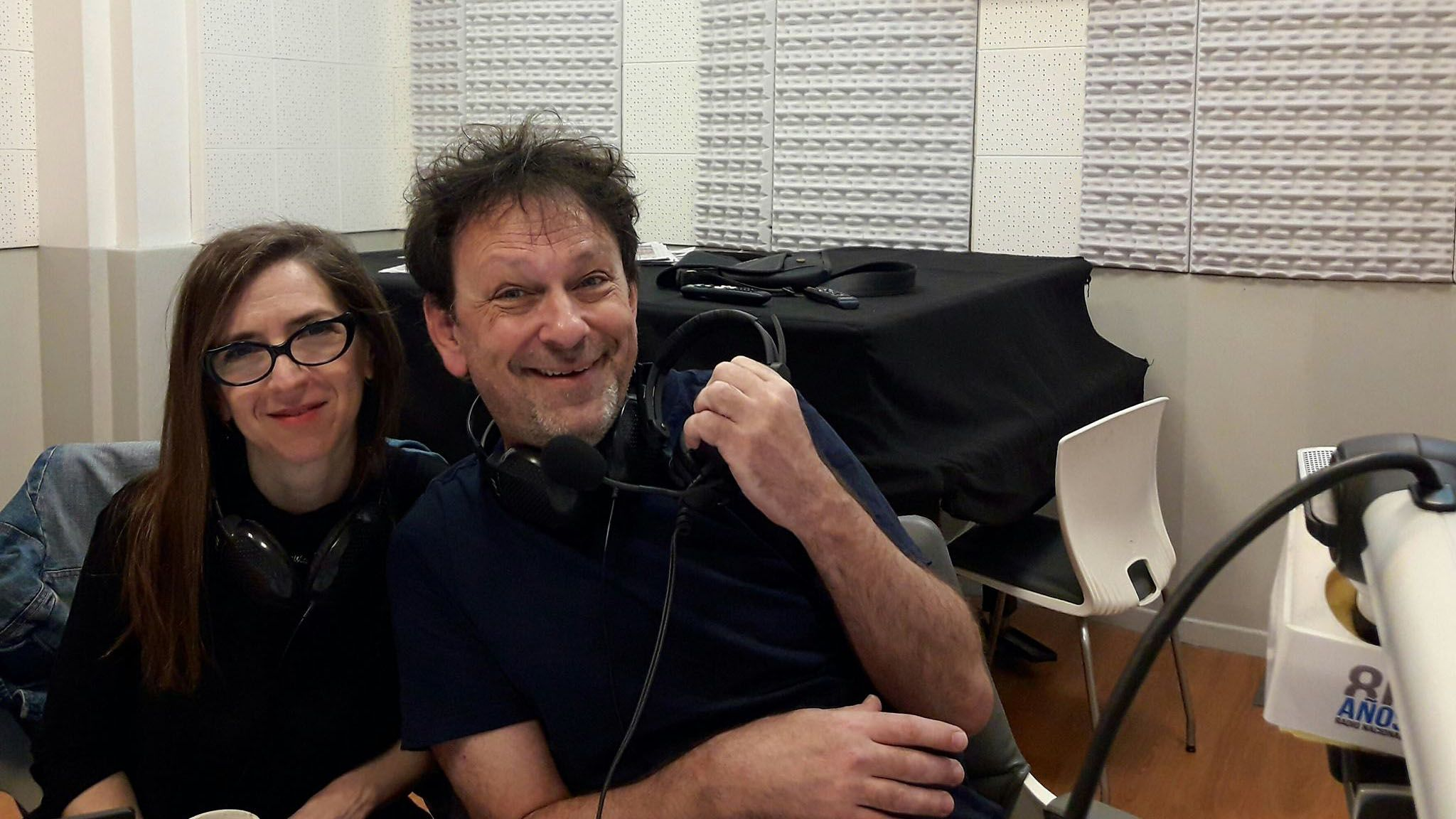 Adrián Korol e Ingrid Beck, en Radio Nacional