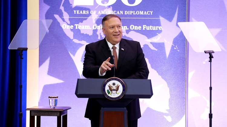 El secretario de Estado Mike Pompeo (AFP)