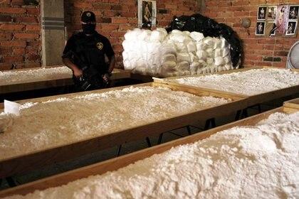 Decomiso de cristal producido en México en Arizona (Foto: Archivo)