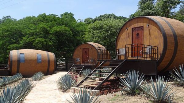 El extraño hotel de México en el que se puede dormir en barricas de tequila