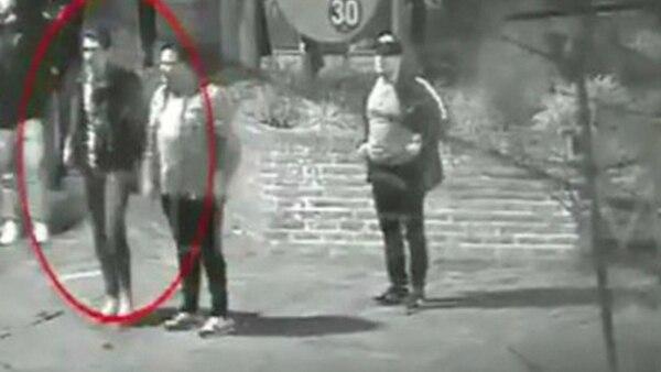 Oviedo y Espíndola en la filmación que hoy consta en el expediente