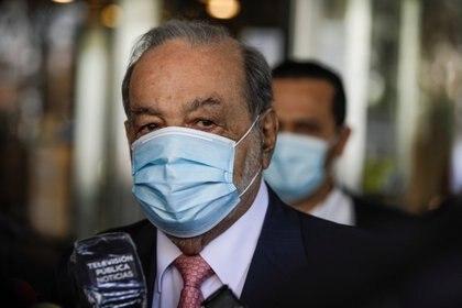 Carlos Slim se posicionó en el lugar 16 de la lista de los hombres más ricos del mundo del 2021. REUTERS/Luis Cortes