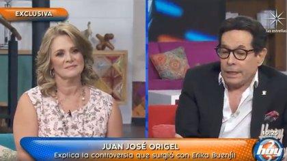 """Pepillo Origel y Erika Buenfil se reconciliaron en """"Hoy"""" (Captura de pantalla)"""