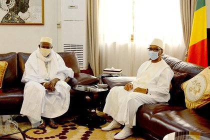 06/07/2020 Encuentro del presidente de Malí, Ibrahim Boubacar Keita, con el imán Mahmud Dicko POLITICA MALÍ INTERNACIONAL PRESIDENCIA DE MALÍ