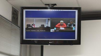 La declaración de De Vido por videconferencia desde la cárcel de Marcos Paz (Adrián Escandar)