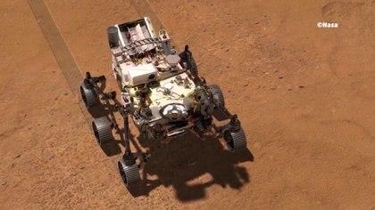 El robot mide tres metros y tiene las dimensiones de un pequeño auto (NASA)