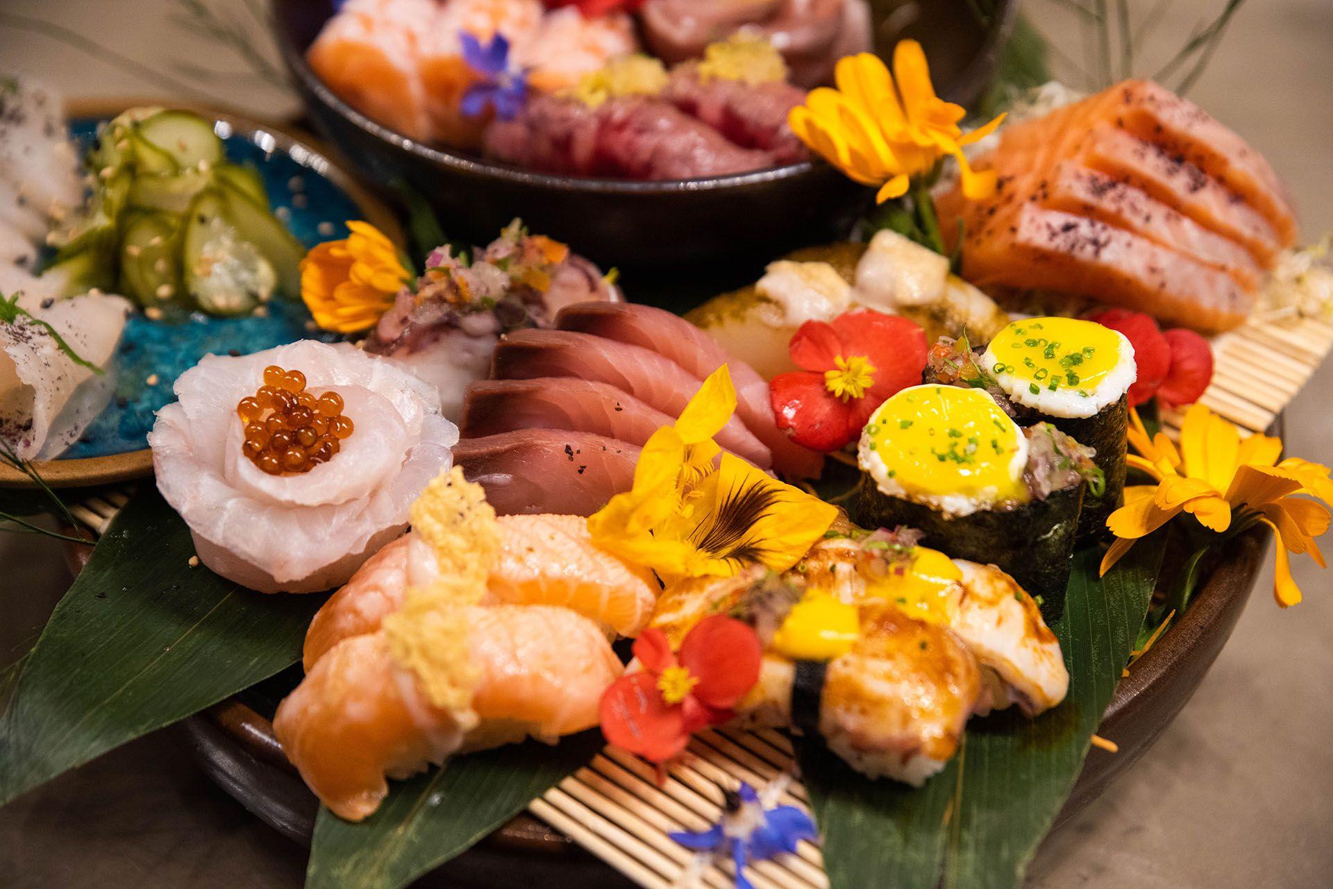 El sushi, tanto por el producto que sirven como por la presentación y la fusión alcanzada, sin dudas se ha convertido en uno de los platos preferidos de sus comensales (Franco Fafasuli)