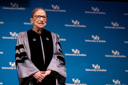 Ruth Bader Ginsburg, en agosto de 2019. REUTERS/Lindsay DeDario/File Photo