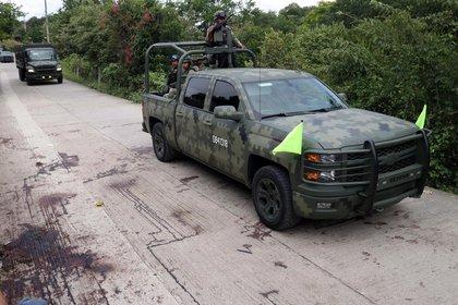 Elementos militares se enfrentaron con un grupo armado en la comunidad de Tepochica al sur de la ciudad. (Foto: Cuartoscuro)