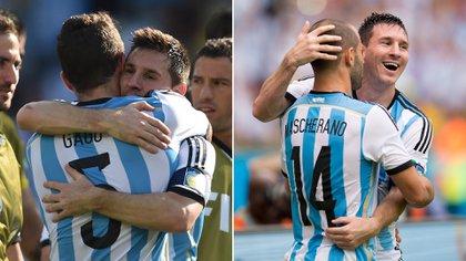Messi se despidió de Mascherano y Gago