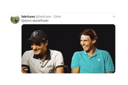 Para Felicidad De Federer Y Nadal Los Mejores Memes Tras La Descalificacion De Djokovic Del Us Open Por Pegarle Un Pelotazo A Una Jueza Infobae