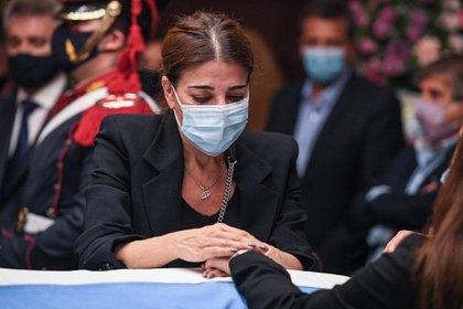 Zulemita Menem, en el Salón Azul del Congreso (Delfina Linares/ Comunicación Senado)