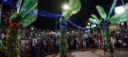 Por este evento masivo de Navidad en el sur de la ciudad, en el que se habría incumplido con los protocolos de bioseguridad, solicitaron una investigación disciplinaria para la alcaldesa de Bogotá Claudia López. Foto: Alcaldía Mayor de Bogotá