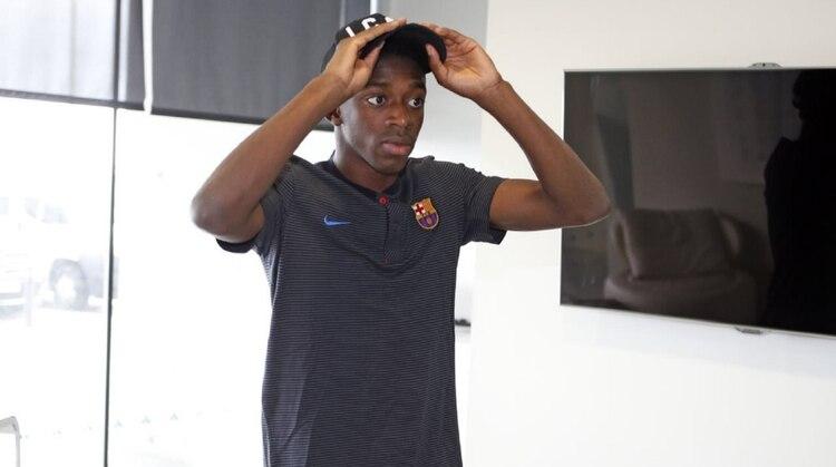 Dembélé se lesionó en el último partido del Barcelona y desató una crisis con el club (Foto: Barcelona oficial)