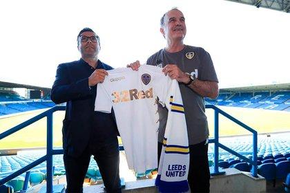 Andrea Radrizzani y Marcelo Bielsa (Leeds United oficial)
