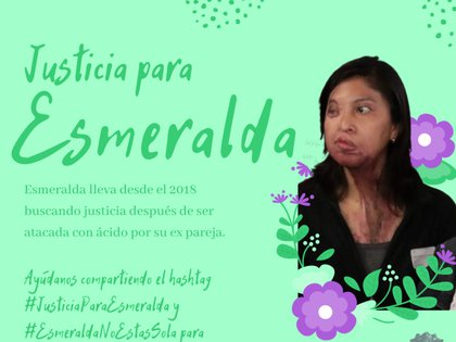 C'était le 2 décembre 2018, il lui a jeté de l'acide au visage, ceci, parce qu'elle a mis fin à la relation il y a quelques jours en raison des mauvais traitements constants qu'elle lui a infligés Photo: Frente Feminista Radical Puebla Facebook